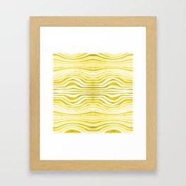Rippled Gold Framed Art Print
