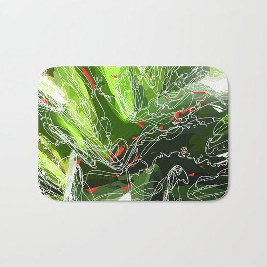 green explosion Bath Mat