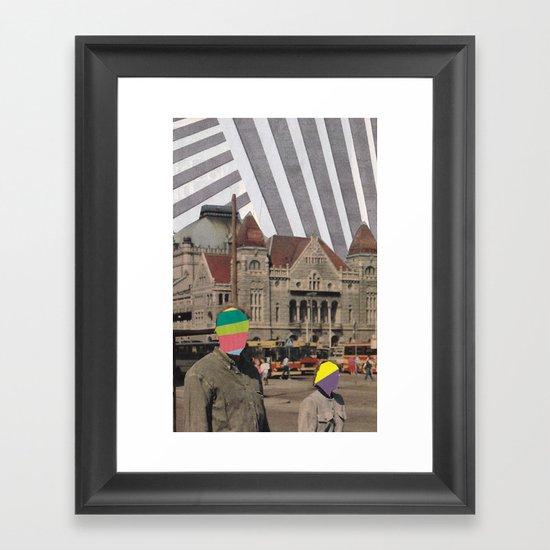 travel weary Framed Art Print
