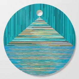 Mountain Lake Abstract Cutting Board