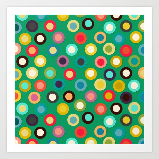 green pop spot Art Print