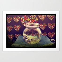 Snowball Art Print