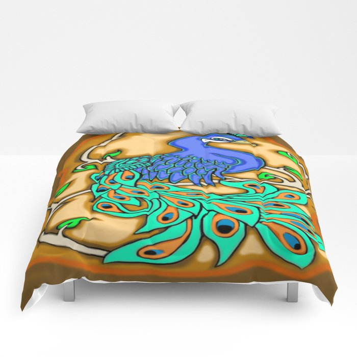 Pretty Peacock Comforters