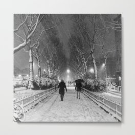 Strangers in the snow Metal Print