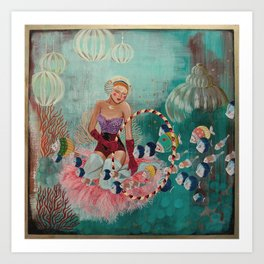 Underwater Circus - Violet and the Clownfish Art Print