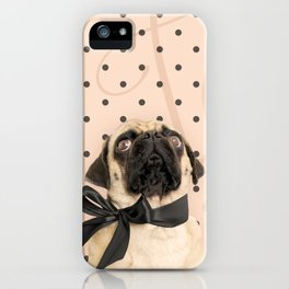 Trés Chic Pug iPhone Case