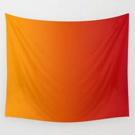 Red Orange Gradient Wall Tapestry
