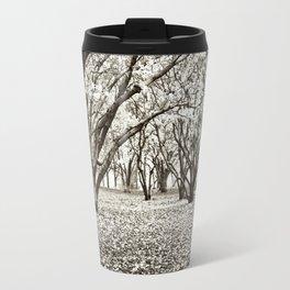 Magnolias in Black & White Travel Mug