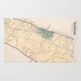 Vintage Map of Yonkers New York (1867) Rug