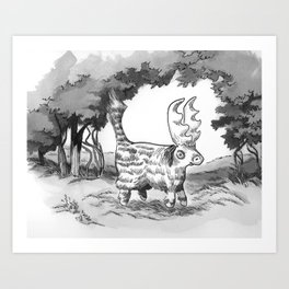 Askos Out for a Walk Art Print