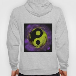 yin yang Ensō zen buddhism purple anise Hoody