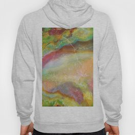 Colorful Abstract Marble Stone Green overtones Hoody