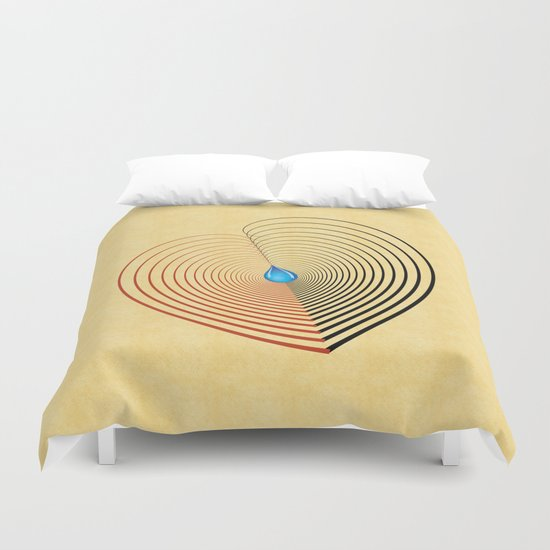 Out of the Blue -- an unbalanced heart Duvet Cover