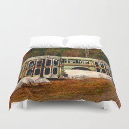 Bus Cemetery Duvet Cover