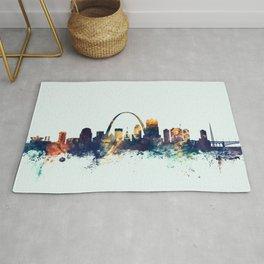St Louis Missouri Skyline Rug