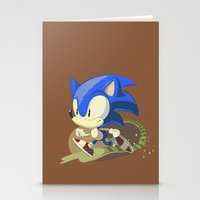 sonic Stationery Cards featuring Sonic by Rod Perich