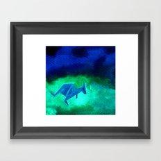 Kangaroo Origami 2 Framed Art Print