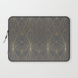 Art Deco in Gold & Grey Laptop Sleeve