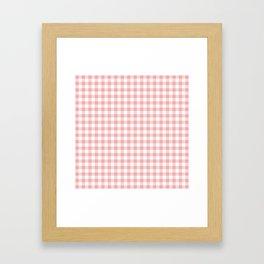 Lush Blush Pink and White Gingham Check Framed Art Print