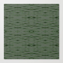 Dark Green Zigzag Pattern Canvas Print