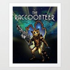 The Raccoonteer Art Print