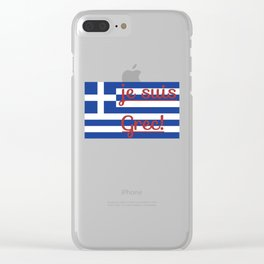je suis Grec Clear iPhone Case