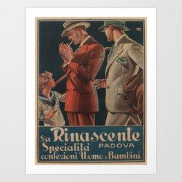 Vintage poster - La Rinascente Art Print