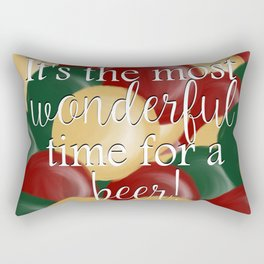 It's The Most Wonderful Time For A Beer Rectangular Pillow