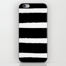 Black & White Paint Stripes by Friztin iPhone Skin