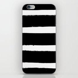 Black & White Paint Stripes by Friztin iPhone Skin