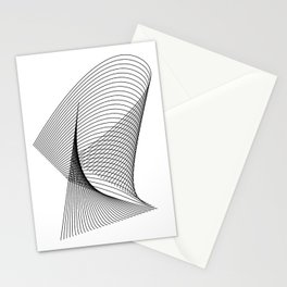 """Linear Collection"" - Minimal Letter R Print Stationery Cards"