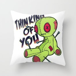 VOODOO DOLL FUNNYART DESIGN Throw Pillow