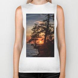 Sunset through the Trees Biker Tank