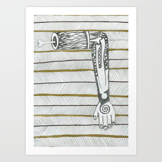 Need a hand,then perhaps an arm. Art Print
