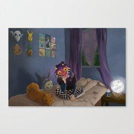 Skull Kid of the Moon Canvas Print