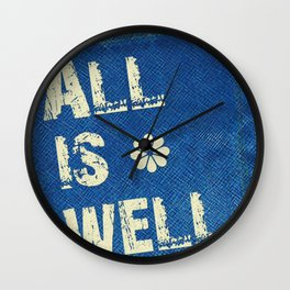 All Is Well - Blue Geni-ism Series Wall Clock