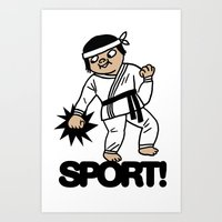 sport Art Prints featuring SPORT! by roomo