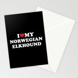 I love my Norwegian Elkhound Stationery Cards