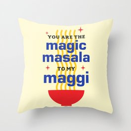 Magic Masala Throw Pillow