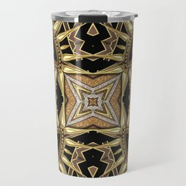 Black Gold Geometric Love Travel Mug
