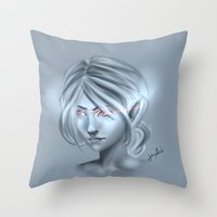 elf Throw Pillows featuring Elf by JemyArt