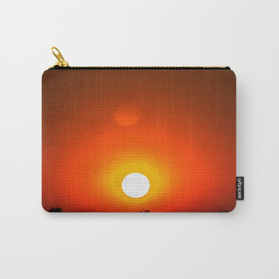 Sunset in red Carry-All Pouch
