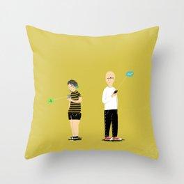(anti)-Social Interaction Throw Pillow
