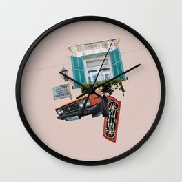 Psychedelic Gemmayzeh - Beirut  Wall Clock