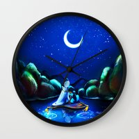 aladdin Wall Clocks featuring Starry Night Aladdin by ThreeBoys