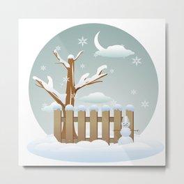 Merry christmas winter  Metal Print