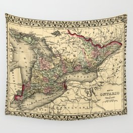 Map Of Ontario 1874 Wall Tapestry