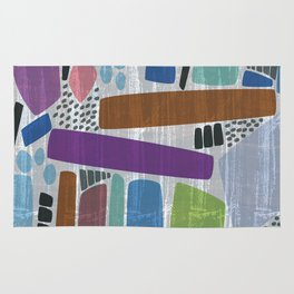 Abstract print, mid century style vintage looking pattern Rug