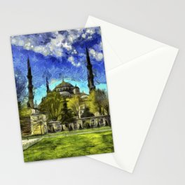 Blue Mosque Istanbul Art Stationery Cards