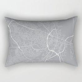 Fayetteville Map, North Carolina USA - Pewter Rectangular Pillow